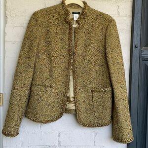 J. Crew wool blend tweed Golden Moss jacket